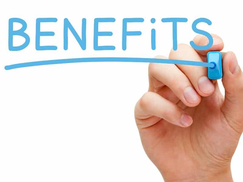 writing benefits on screen