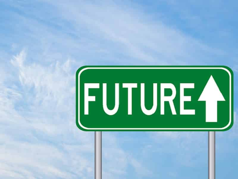 sign with future and arrow
