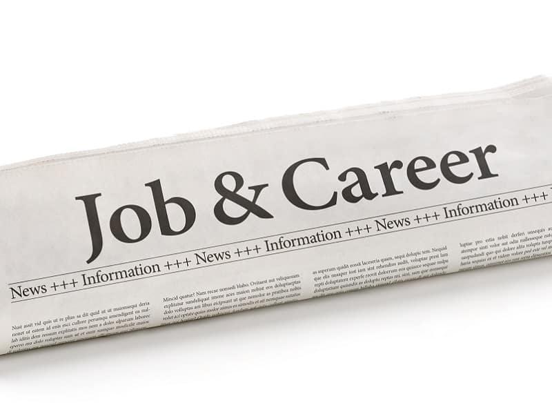 job page on newspaper