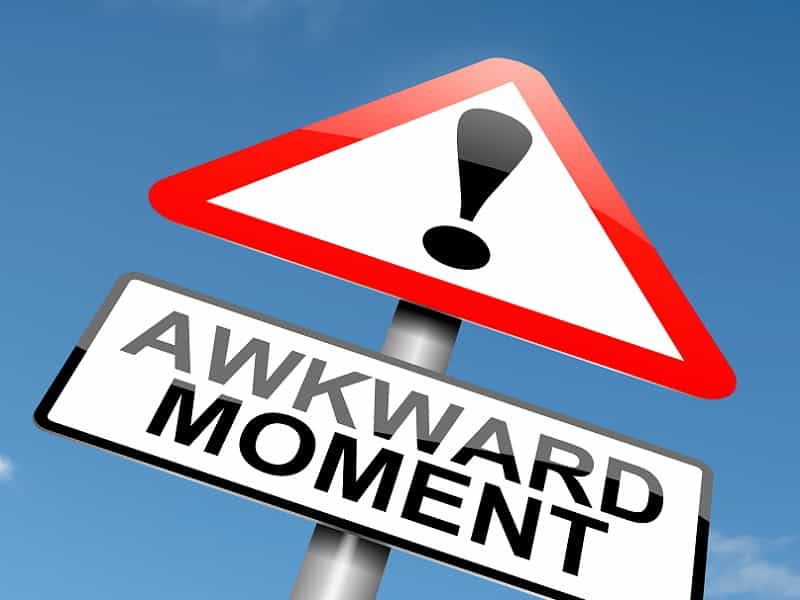 sign with awkward moment