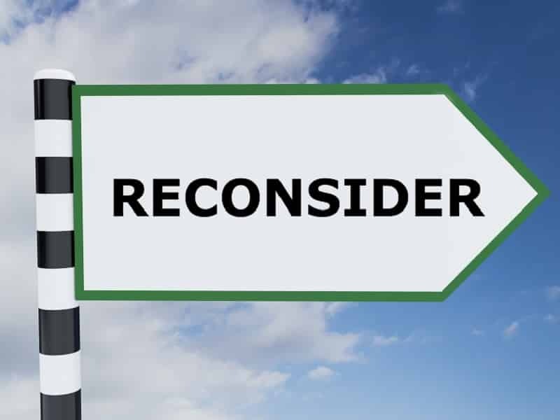 sign with reconsider