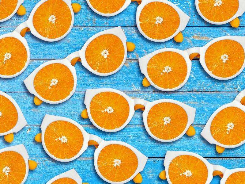 sunglasses lenses are oranges