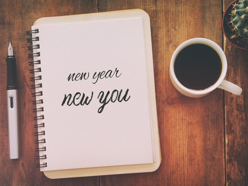 New year new you on notebook