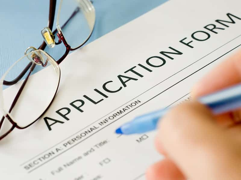 writing application form