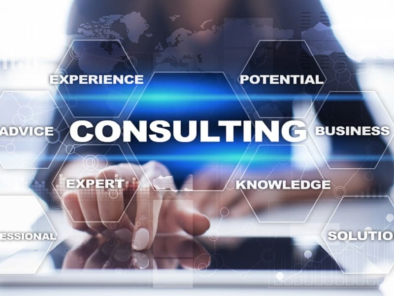 finger pointing to consulting
