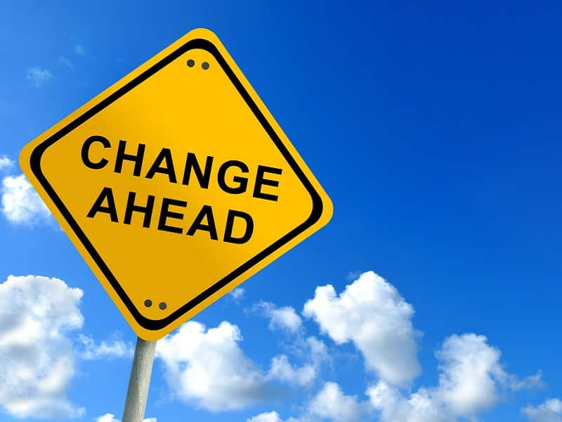 sign change ahead