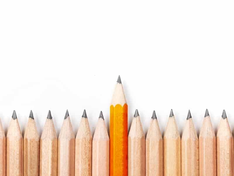 orange pencil outstanding
