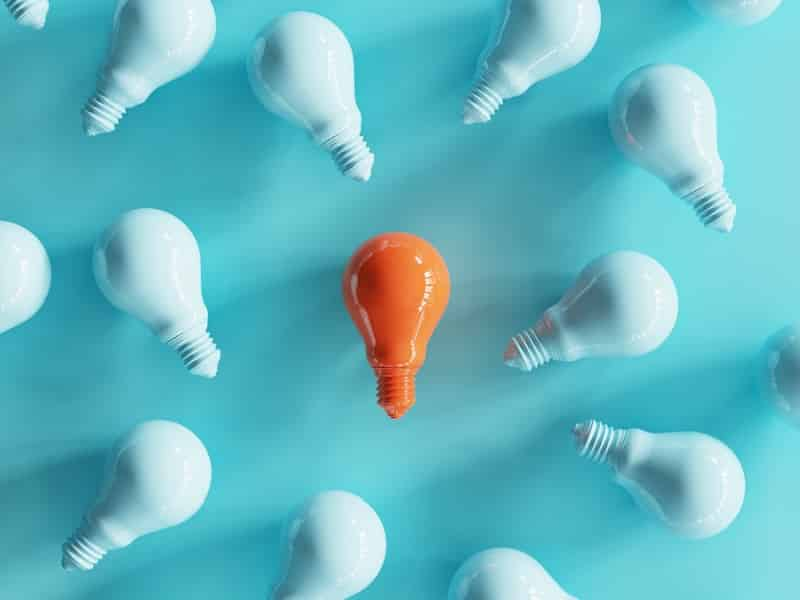 orange lightbulb standout