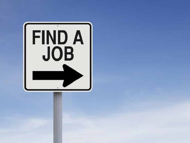 find a job sign