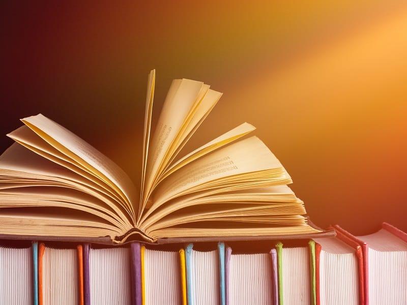 books with orange bacground