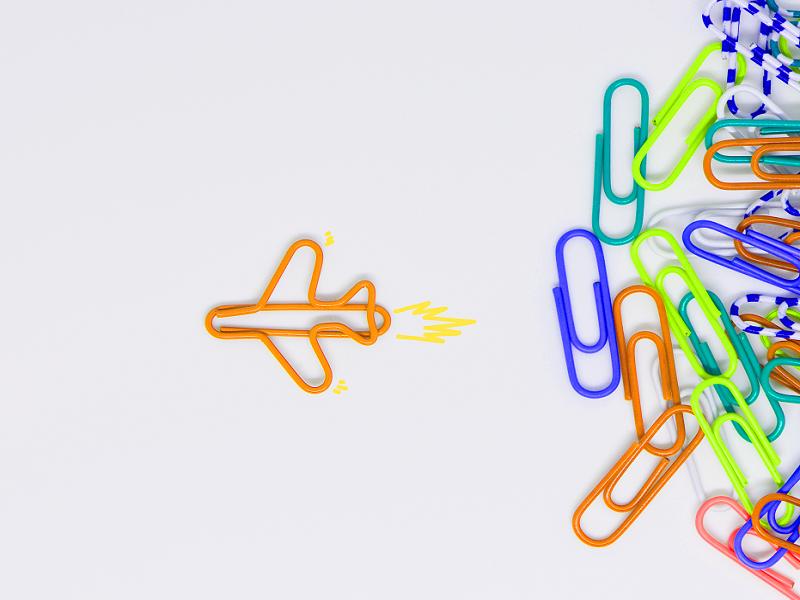 paper clip plane